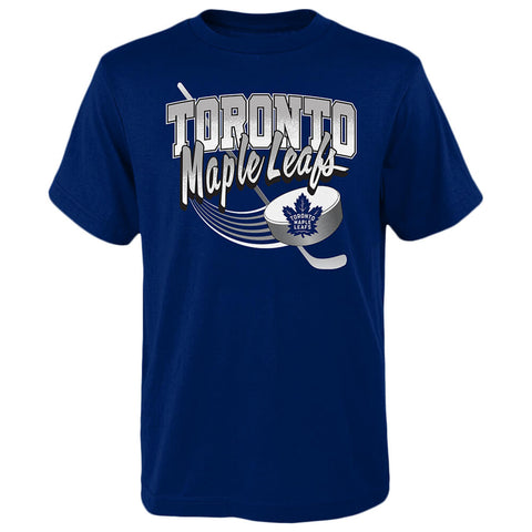OUTERSTUFF 4-7 TORONTO MAPLE LEAFS ACTIVATE SHORT SLEEVE TOP BLUE
