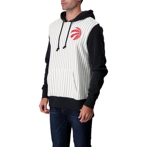 47 BRAND MEN'S TORONTO RAPTORS IMPRINT LC PINSTRIPE 47 HOODY BLACK/RED