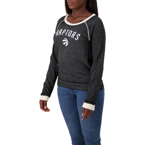 47 BRAND WOMEN'S TORONTO RAPTORS 47 FADE OUT CREW TOP