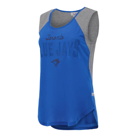 TOUCH BY ALYSSA MILANO WOMEN'S TORONTO BLUE JAYS PITCH COUNT TANK