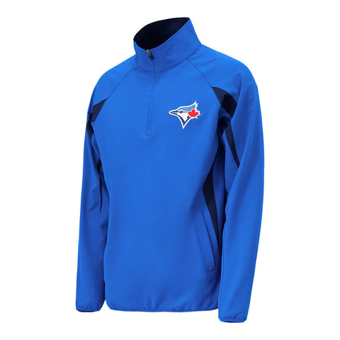 GIII MEN'S TORONTO BLUE JAYS CONTENDER HALF ZIP JACKET