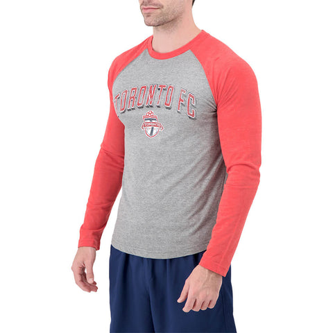 FANATICS MEN'S TFC TRUE CLASSIC TRIBLEND RETRO BLOCK RAGLAN LONG SLEEVE TOP