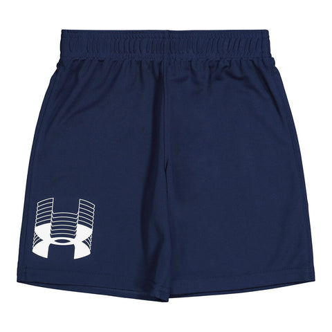 UNDER ARMOUR BOY'S 4-7 PROTOTYPE LOGO SHORT ACADEMY/ WHITE