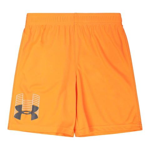UNDER ARMOUR BOY'S 4-7 PROTOTYPE LOGO SHORT ORANGE SPARK