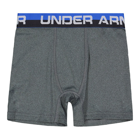 UNDER ARMOUR BOY'S 2 PACK BOXER BRIEFS ULTRA BLUE/ CHARCOAL GREY HEATHER