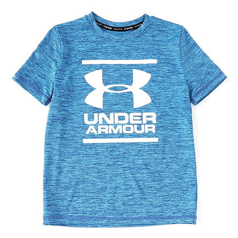 UNDER ARMOUR BOY'S HEATHER SURF SHIRT VERSA BLUE/TWIST