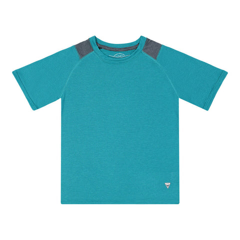 BURNSIDE BOY'S SHORT SLEEVE TEE SCUBA BLUE
