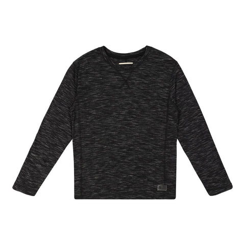BURNSIDE BOY'S LONG SLEEVE TEE BLACK
