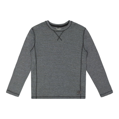 BURNSIDE BOY'S LONG SLEEVE TEE CARBON GREY