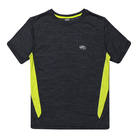 RAWLINGS BOY'S SHORT SLEEVE CREW NECK TEE BLACK/GREEN