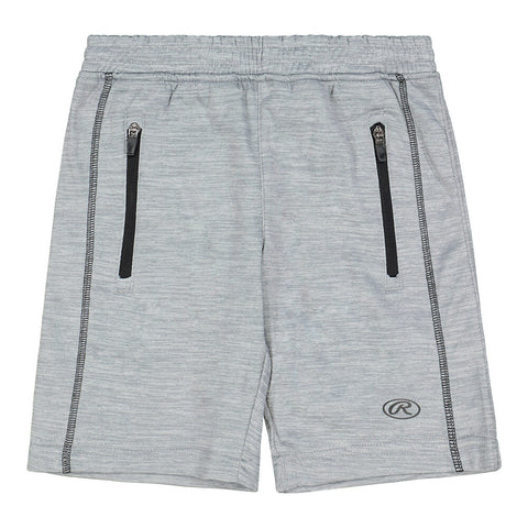 RAWLINGS BOY'S PERFORMANCE FLEECE SHORT GREY
