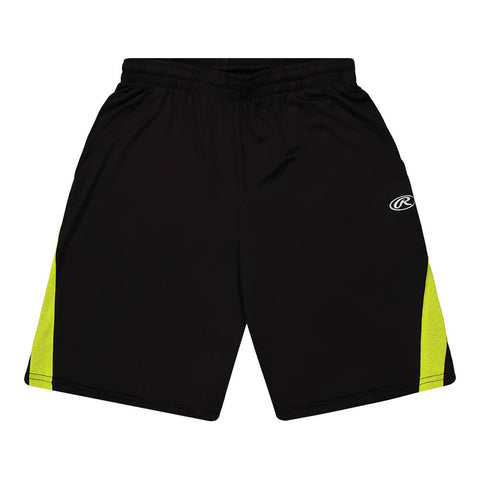 RAWLINGS BOY'S TRACK SHORT BLACK SOLID/GREEN