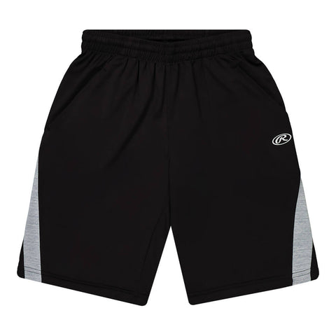 RAWLINGS BOY'S TRACK SHORT BLACK SOLID/GREY