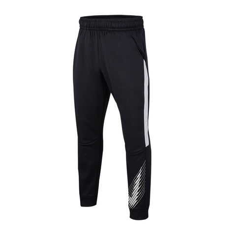 NIKE BOY'S THERMA GFX PANT BLACK/WHITE/WHITE