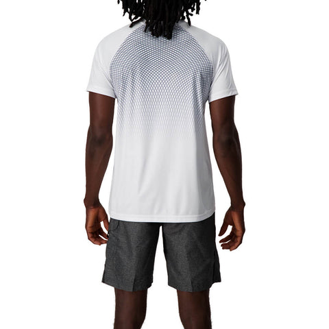 RAWLINGS MEN'S SHORT SLEEVE CREW NECK PRINT TOP WHITE
