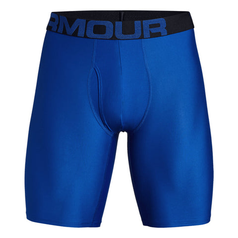 UNDER ARMOUR MEN'S TECH 9 INCH 2 PACK UNDERWEAR BLUE