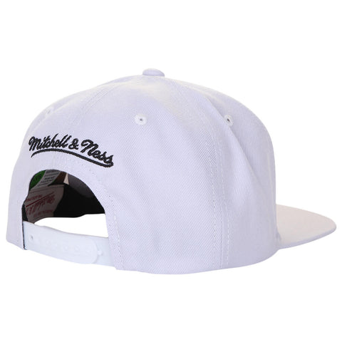 MITCHELL & NESS MEN'S TORONTO RAPTORS BLACK ON WHITE DINO SNAPBACK HAT WHITE
