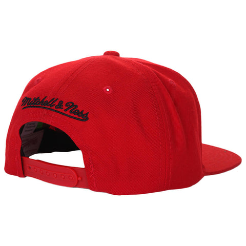 MITCHELL & NESS MEN'S TORONTO RAPTORS WOOL SOLID SNAPBACK HAT RED