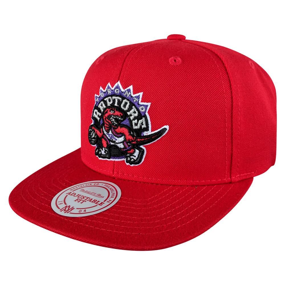 good out x good texture utterly stylish MITCHELL & NESS MEN'S TORONTO RAPTORS WOOL SOLID SNAPBACK HAT RED ...