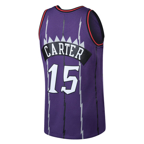 MITCHELL & NESS MEN'S TORONTO RAPTORS SWINGMAN JERSEY CARTER PURPLE PLAYER NUMBERS WITH NAME
