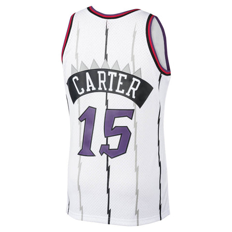 MITCHELL & NESS MEN'S TORONTO RAPTORS SWINGMAN JERSEY CARTER WHITE PLAYER NUMBERS WITH NAME
