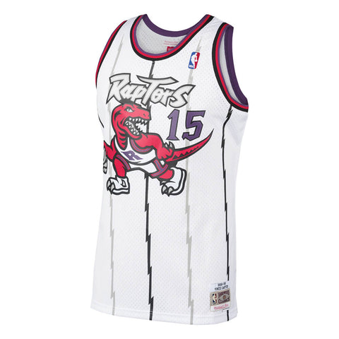 MITCHELL & NESS MEN'S TORONTO RAPTORS SWINGMAN JERSEY CARTER WHITE FRONT RAPTORS LOGO
