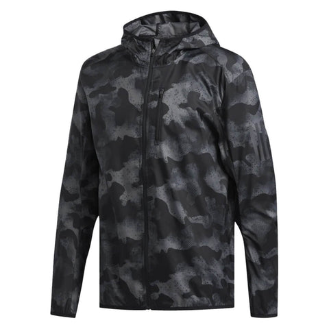 ADIDAS MEN'S OWN THE RUN CAMOUFLAGE JACKET GREY4/GREY6/BLACK