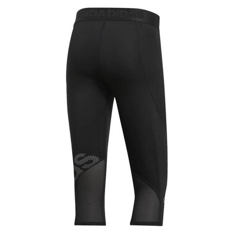 ADIDAS MEN'S ALPHASKIN BADGE OF SPORT 3/4 TIGHT BLACK
