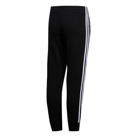 ADIDAS BOY'S 3 STRIPE COTTON FLEECE JOGGER BLACK BACK