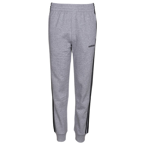 ADIDAS BOY'S 3 STRIPE COTTON FLEECE JOGGER GREY MELANGE