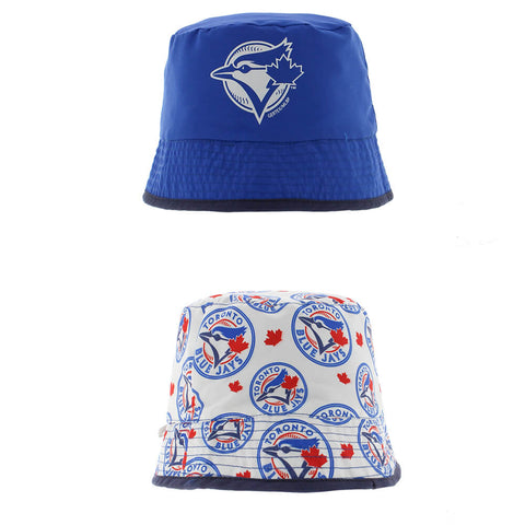 GERTEX BOYS TORONTO BLUE JAYS REVERSIBLE PACKABLE BUCKET HAT
