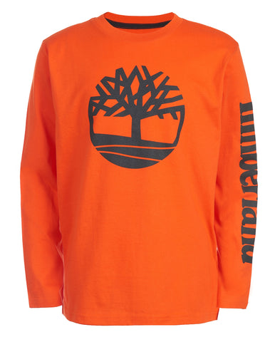 TIMBERLAND BOY'S EPSOM LONG SLEEVE TEE ORANGE