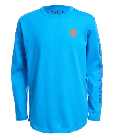 TIMBERLAND BOY'S BILL LONG SLEEVE TEE BLUE