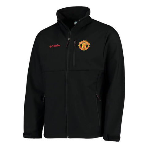COLUMBIA MEN'S MANCHESTER UNITED ASCENDER SOFTSHELL BLACK