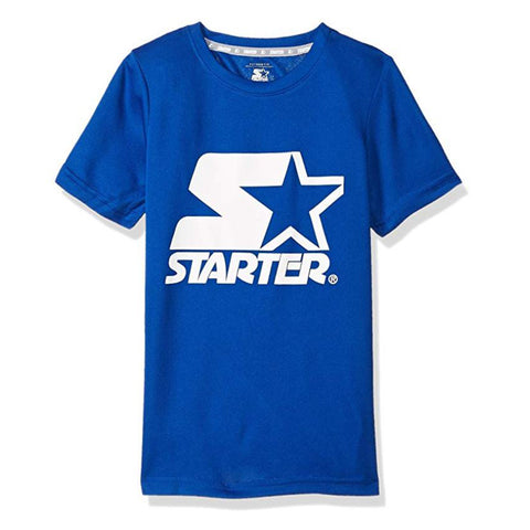 STARTER BOY'S POLY LOGO TEE TEAM BLUE