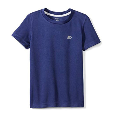 STARTER BOY'S SHORT SLEEVE TECH TEE TEAM NAVY
