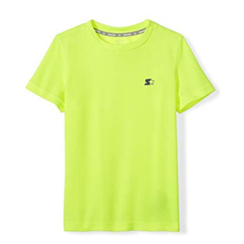 STARTER BOY'S SHORT SLEEVE TECH TEE SAFETY YELLOW