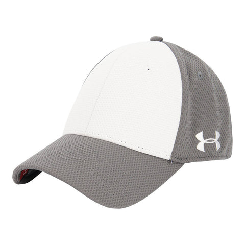 UNDER ARMOUR MEN'S COLOUR BLOCKED CURVED STRETCH CAP GREY
