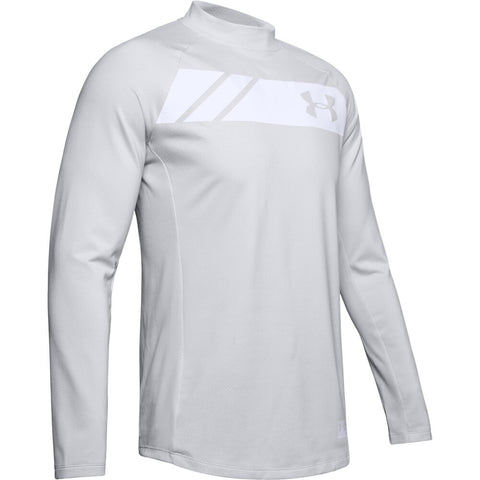 UNDER ARMOUR MEN'S COLDGEAR GRID MOCK NECK TOP GREY