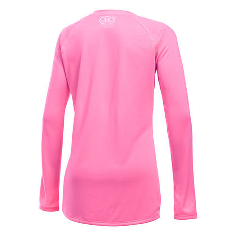 UNDER ARMOUR GIRL'S BIG LOGO LONG SLEEVE PINK
