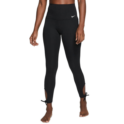 NIKE WOMEN'S YOGA 7/8 TIGHT BLACK/WHITE