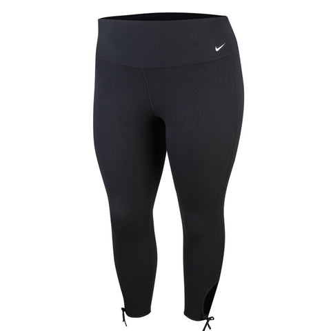 NIKE WOMEN'S YOGA COLLECTION TIGHT 7/8 PLUS BLACK/WHITE
