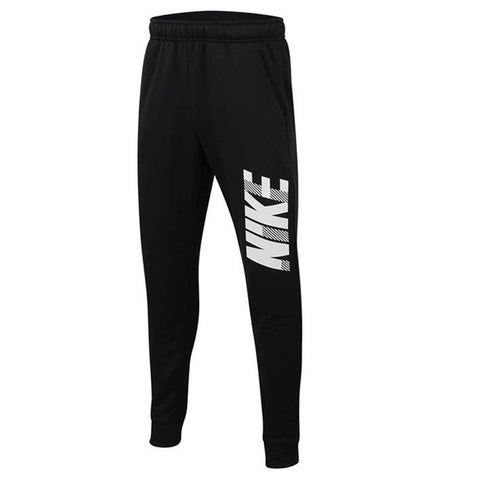 NIKE BOY'S DRY GFX TAPERED PANT BLACK/WHITE