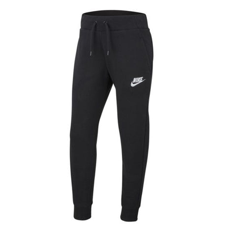 NIKE GIRL'S NSW FLEECE PANT BLACK/WHITE