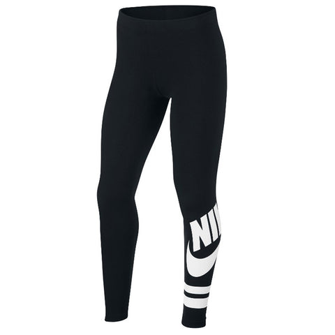 NIKE GIRL'S NSW LEGGING FAVORITE GX3 BLACK/WHITE