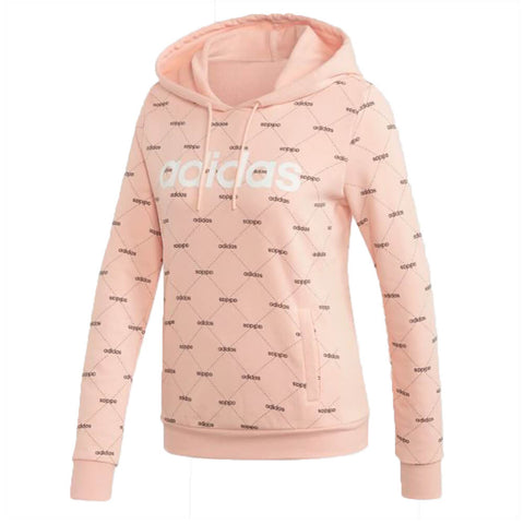 ADIDAS WOMAN'S CORE FAVE HOODY GLOW PINK
