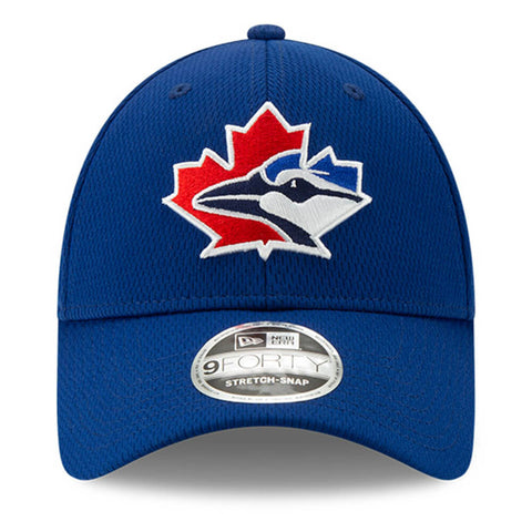 NEW ERA TORONTO BLUE JAYS 2020 BATTING PRACTICE 940 STRETCH CAP BLUE