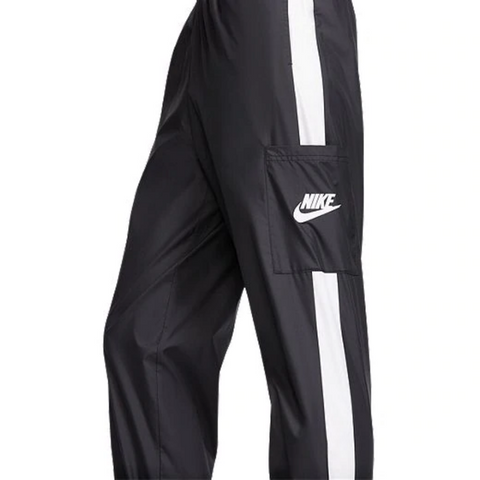 NIKE WOMEN'S NSW WOVEN PANT BLACK/WHITE