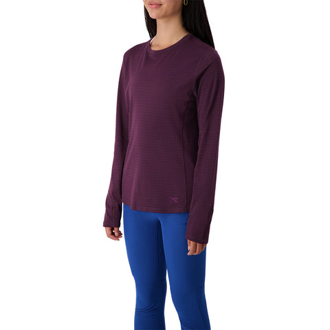 DIADORA WOMEN'S ESSENTIAL LONG SLEEVE TRAINING TEE POTENT PURPLE