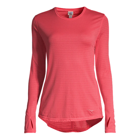 DIADORA WOMEN'S ESSENTIAL LONG SLEEVE TRAINING TEE CALYPSO CORAL
